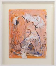 Obraz do salonu artysty Małgorzata Lazarek pod tytułem Rózowy profil