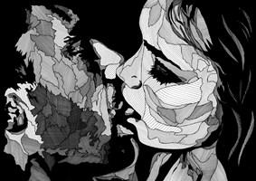 Grafika do salonu artysty Bartek  Niewiadomski pod tytułem JinJang