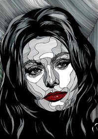 Grafika do salonu artysty Bartek Niewiadomski pod tytułem Sophia L.