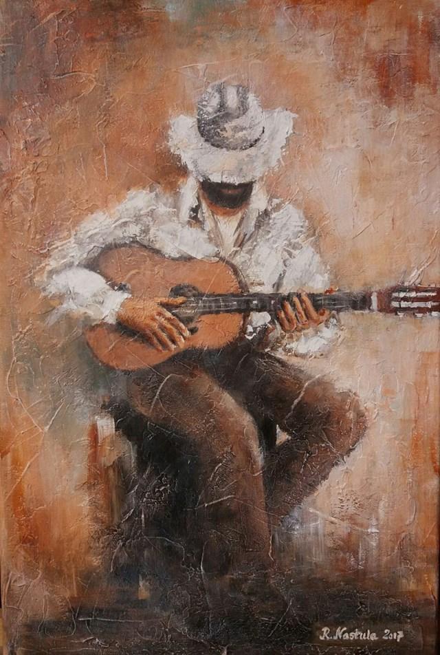 Obraz do salonu artysty Renata Nastula pod tytułem Kowboj