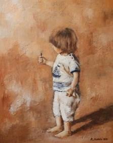 Obraz do salonu artysty Renata Nastula pod tytułem Chłopiec