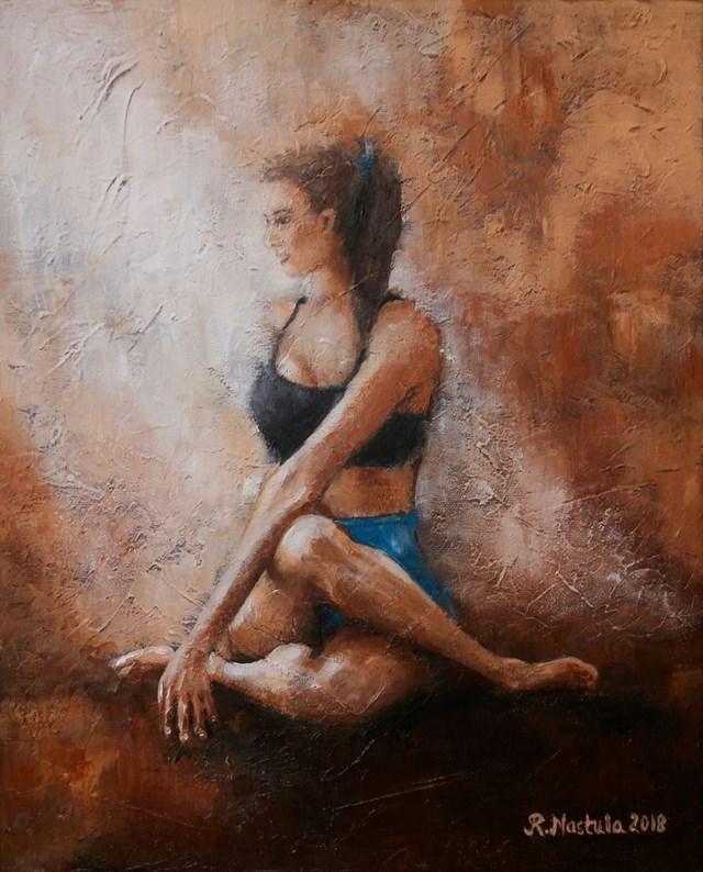 Obraz do salonu artysty Renata Nastula pod tytułem Joginka nr 2