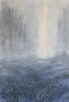 Living room painting by Sebastian Garyantesiewicz titled Portal