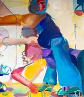Living room painting by Rafał Chojnowski titled Kiosk 2