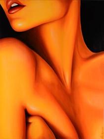 Obraz do salonu artysty Eliza Mytko pod tytułem Pragnę być w Twoich snach kompletnie naga