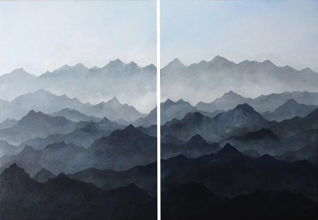 Obraz do salonu artysty Klaudia Krupa pod tytułem Pejzaż górski