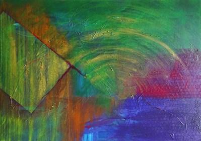 Obraz do salonu artysty Klaudia Krupa pod tytułem abstrakcja geometryczna
