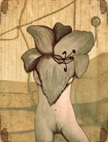 Grafika do salonu artysty Anna Marciniak pod tytułem Kobieta kwiat