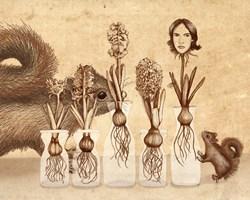 Grafika do salonu artysty Anna Marciniak pod tytułem Hiacynty