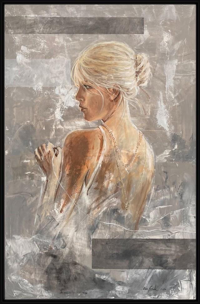 Obraz do salonu artysty Ewa Jasek pod tytułem Biała Nić