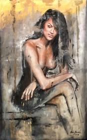 """Obraz do salonu artysty Ewa Jasek pod tytułem """"Lady1"""""""