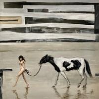 Obraz do salonu artysty Ewa Jasek pod tytułem Dziewczyna z koniem