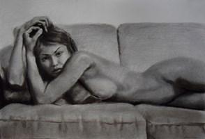 Grafika do salonu artysty Kamila Ossowska pod tytułem Katia