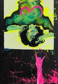 Obraz do salonu artysty Justyna Kasperkiewicz pod tytułem Psycho 3