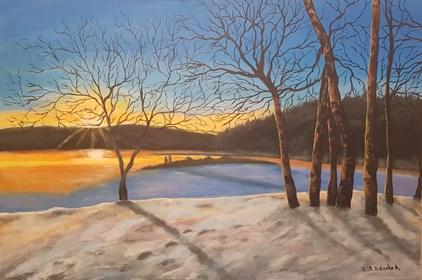 Obraz do salonu artysty Anna Bielecka pod tytułem Zimowy poranek