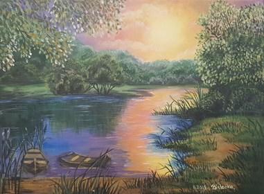 Obraz do salonu artysty Anna Bielecka pod tytułem Zachód słońca