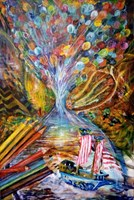Obraz do salonu artysty Grzegorz Lazarek pod tytułem Ulotność dziecięcej wrzawy