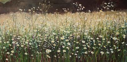 Obraz do salonu artysty Aleksandra Rey pod tytułem Przymiotno białe z cyklu Zielnik