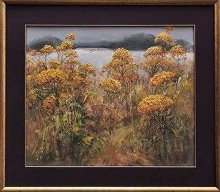 Living room painting by Daniel Pielucha titled Tansy