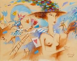Obraz do salonu artysty Eugeniusz Ochonko pod tytułem Podróż w nieznane