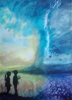 Obraz do salonu artysty Tomasz Pawłusiewicz pod tytułem Miłość ponad wszystko