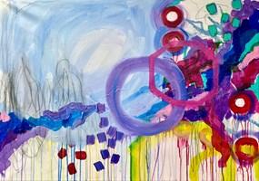 Obraz do salonu artysty Ewa Jaros pod tytułem Starry waters, wavy skies