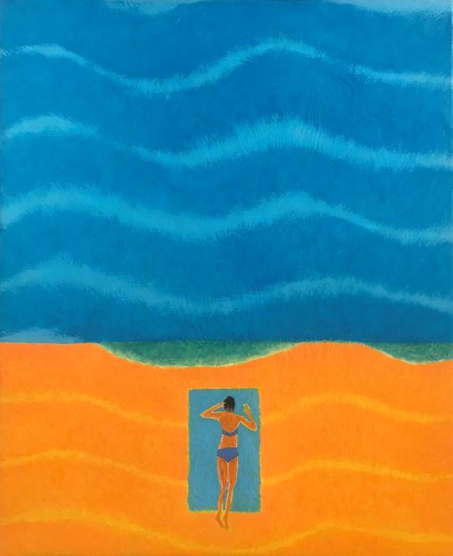 Obraz do salonu artysty Jolanta Johnsson pod tytułem Sam na sam z morzem