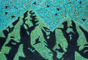 Obraz do salonu artysty Jolanta Johnsson pod tytułem Drzewa jak góry