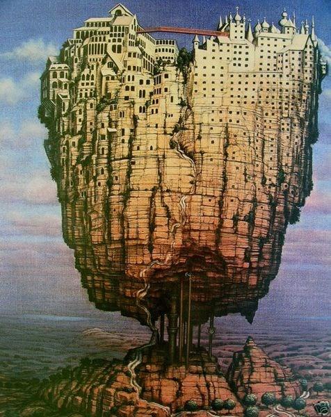 Grafika do salonu artysty Jacek Yerka pod tytułem Europa (243/450)