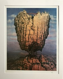 Grafika do salonu artysty Jacek Yerka pod tytułem Europa