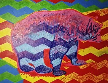 Obraz do salonu artysty Adrian Woźny pod tytułem Bez tytułu