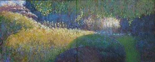 Obraz do salonu artysty Tomasz Klimczyk pod tytułem W moim ogrodzie II