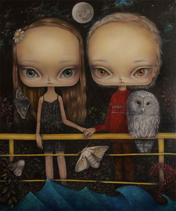 Obraz do salonu artysty Paulina Góra pod tytułem Żółty most