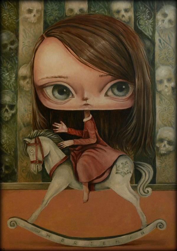 Obraz do salonu artysty Paulina Góra pod tytułem Biały koń