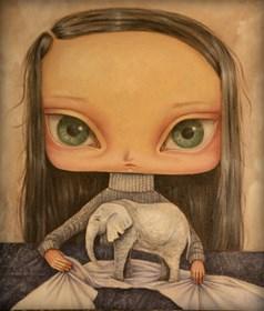 Obraz do salonu artysty Paulina Góra pod tytułem Biały Słoń