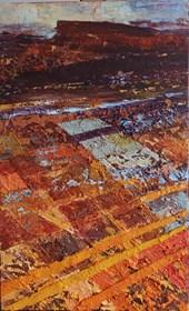 Obraz do salonu artysty Izabela Rudzka pod tytułem Oranżowy pejzaż