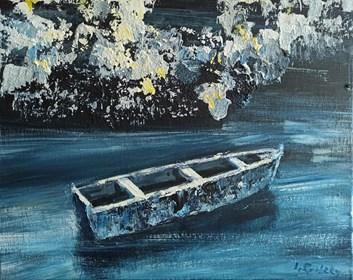 Obraz do salonu artysty Izabela Rudzka pod tytułem Łódź blue