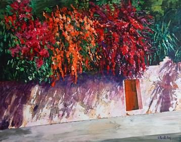 Obraz do salonu artysty Izabela Rudzka pod tytułem Blooming garden