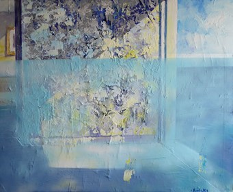 Obraz do salonu artysty Izabela Rudzka pod tytułem Wnętrze i morze