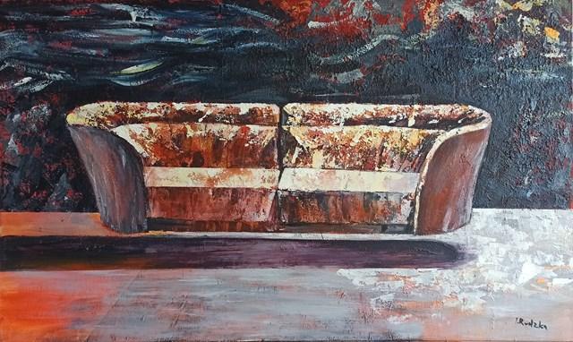Obraz do salonu artysty Izabela Rudzka pod tytułem Fruwająca kanapa