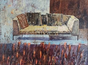 Obraz do salonu artysty Izabela Rudzka pod tytułem Kanapa i róże