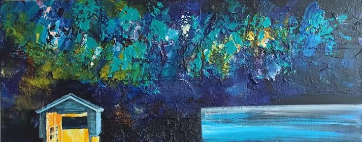 Obraz do salonu artysty Izabela Rudzka pod tytułem Światła nocy
