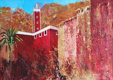 Living room painting by Izabela Rudzka titled  Fortress