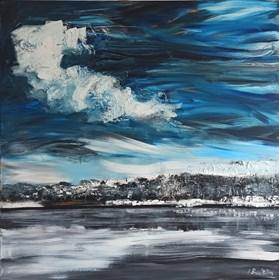 Obraz do salonu artysty Izabela Rudzka pod tytułem Jezioro Wojnowskie