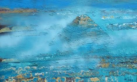 Obraz do salonu artysty Izabela Rudzka pod tytułem Piramida i mgła