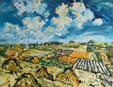 Obraz do salonu artysty Izabela Rudzka pod tytułem Letni pejzaż