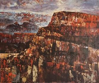 Obraz do salonu artysty Izabela Rudzka pod tytułem Góra-wieża Babela