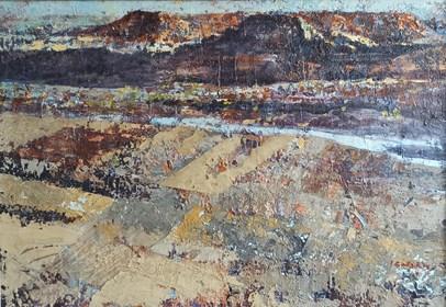 Obraz do salonu artysty Izabela Rudzka pod tytułem Pejzaż marokański