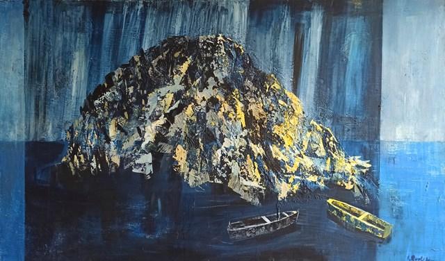 Obraz do salonu artysty Izabela Rudzka pod tytułem Wyspa w świetle księżyca