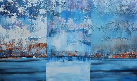 Obraz do salonu artysty Izabela Rudzka pod tytułem Jezioro w deszczu